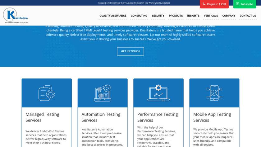 Kualitatem Landing Page