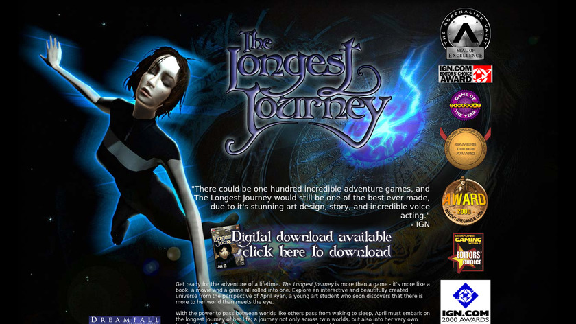 The Longest Journey Landing Page
