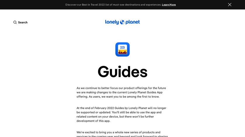 Guides by Lonely Planet Landing Page