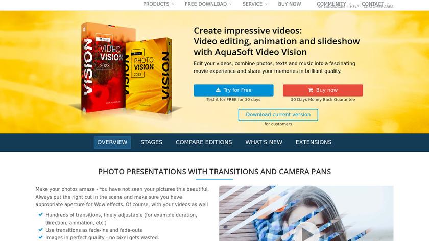 AquaSoft SlideShow Landing Page