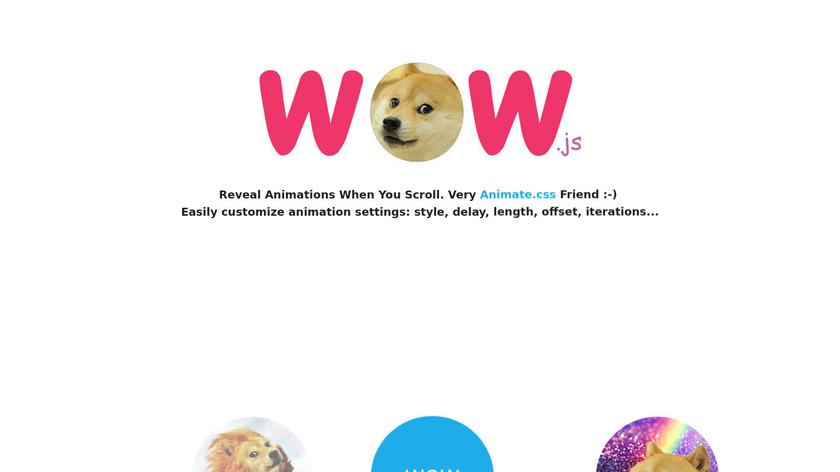 WOW.js Landing Page