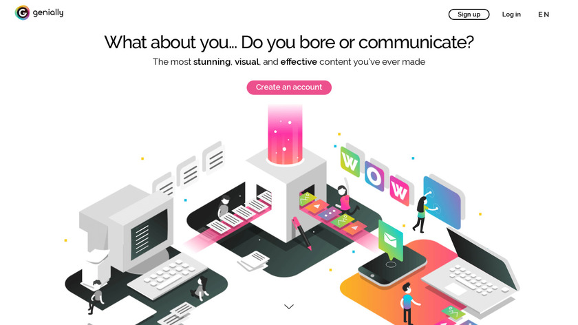 Genial.ly.ly Landing Page