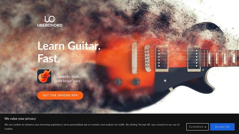 Uberchord Guitar Landing Page