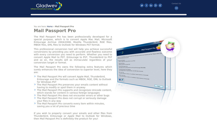 Mail Passport Pro Landing Page