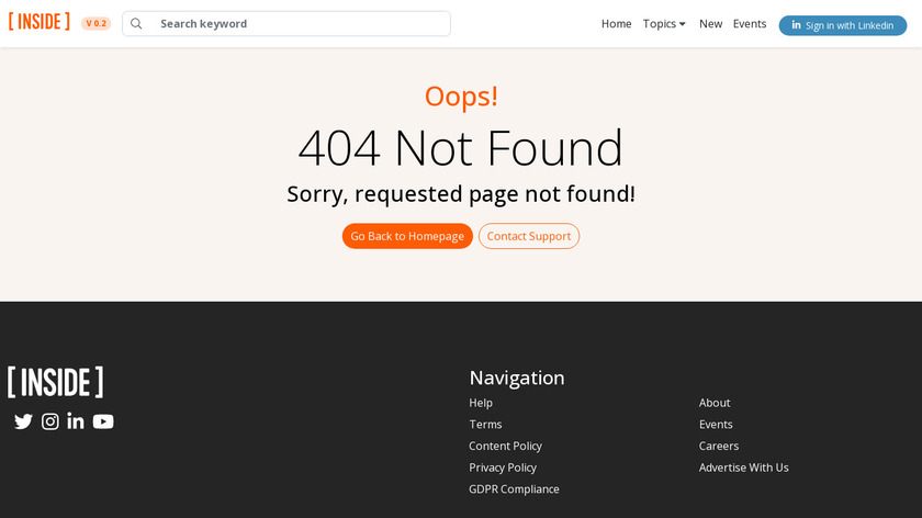 Inside Drones Landing Page