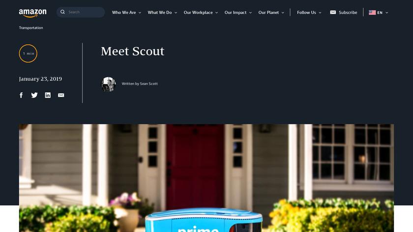 Amazon Scout Landing Page