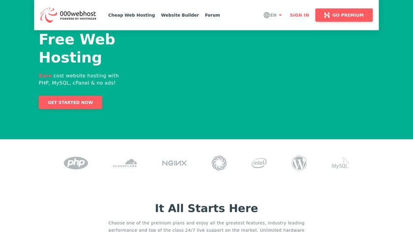 000webhost Landing Page