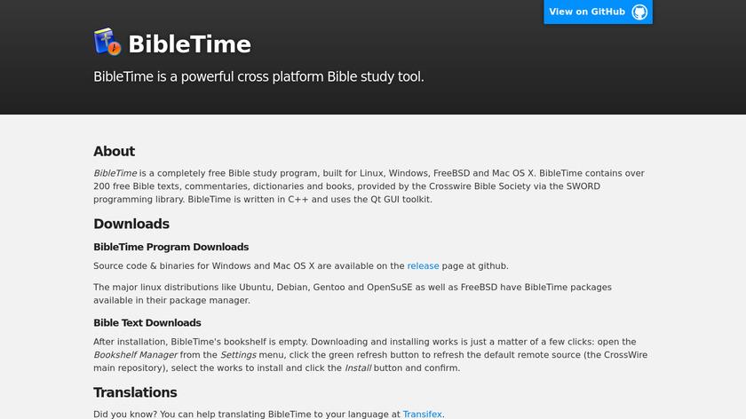 BibleTime Landing Page