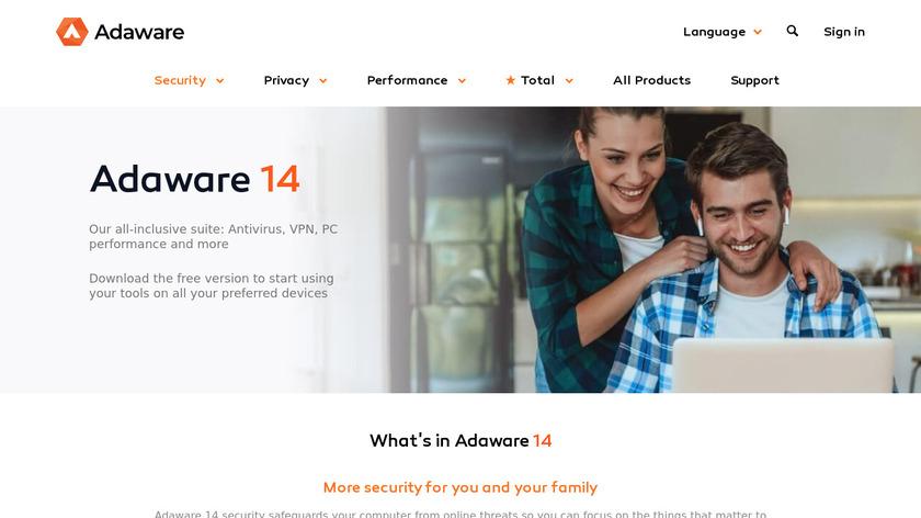 Ad-Aware Landing Page