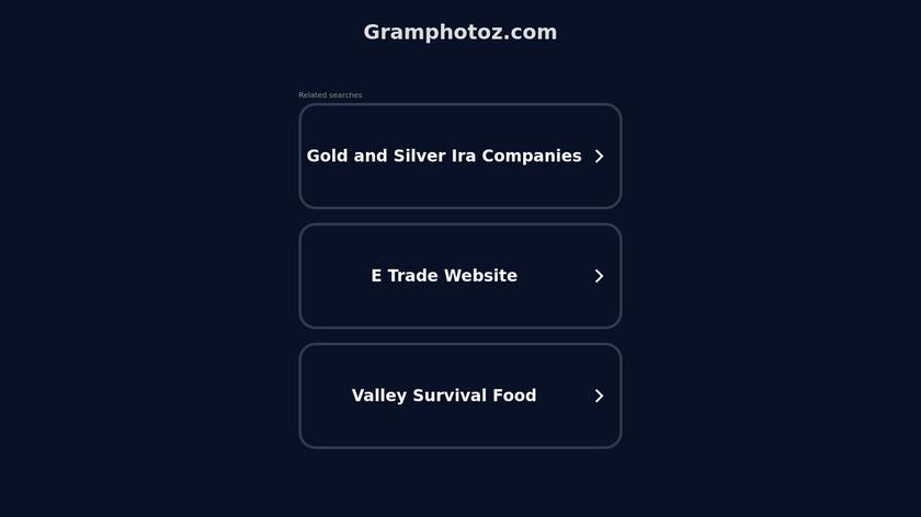 GramPhotoz.com Landing Page