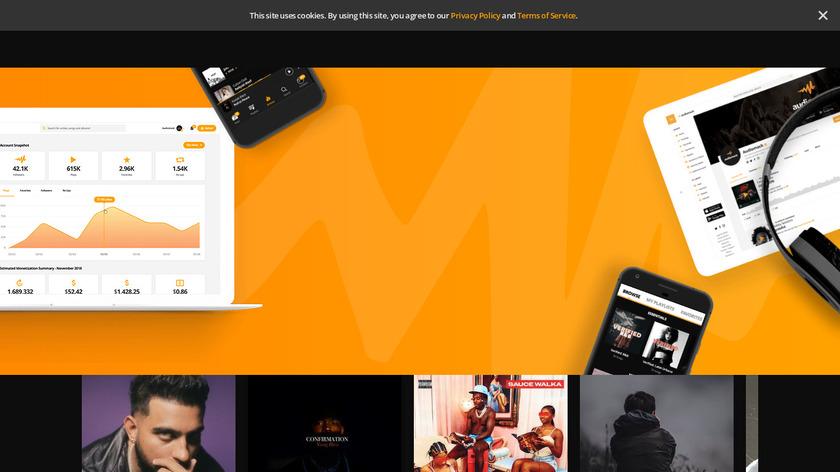 Audiomack Landing Page