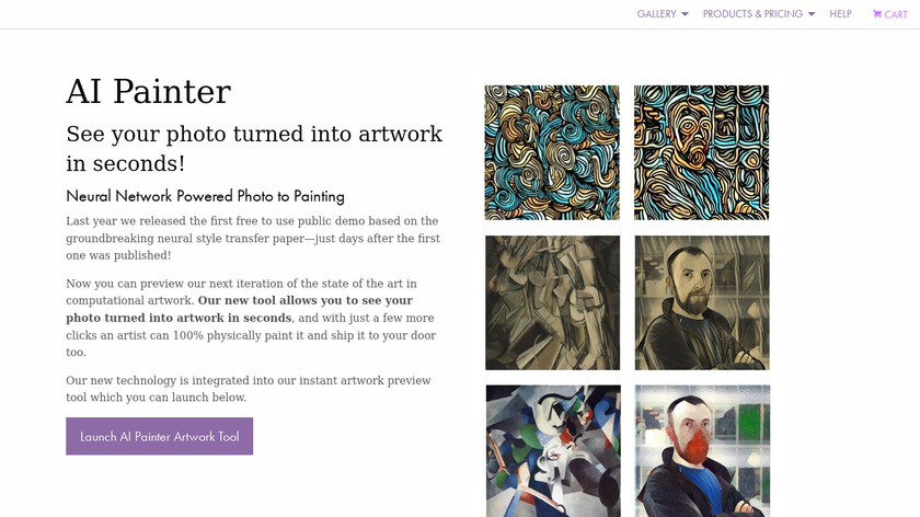AI Painter Landing Page