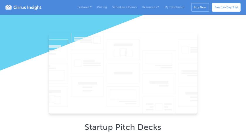 Startup Pitch Decks Landing Page