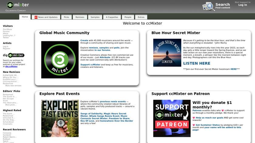 ccMixter Landing Page