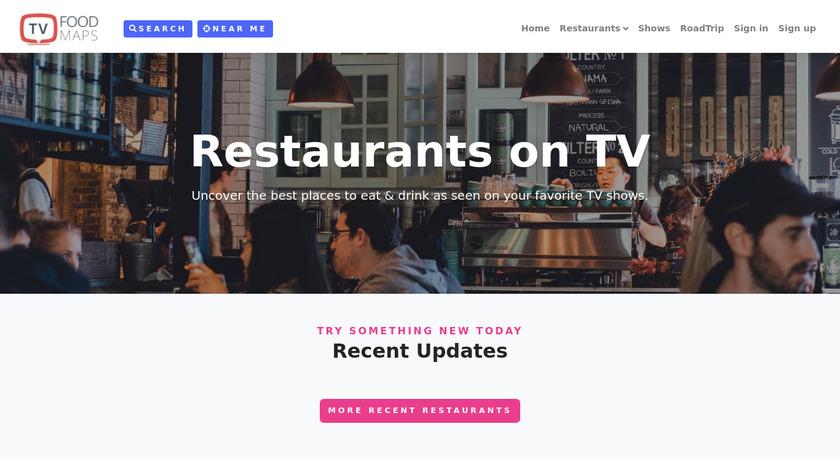 TVFoodMaps Landing Page