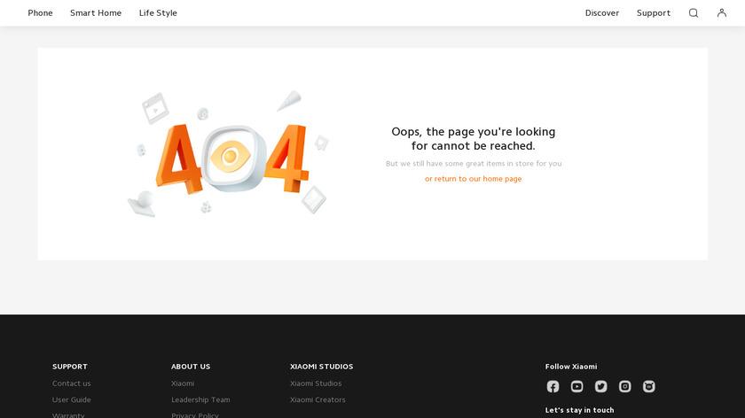 Mi Bluetooth Speaker Landing Page