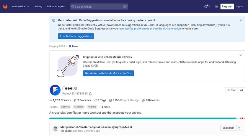 Feeel Landing Page