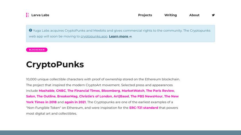 CryptoPunks Landing Page