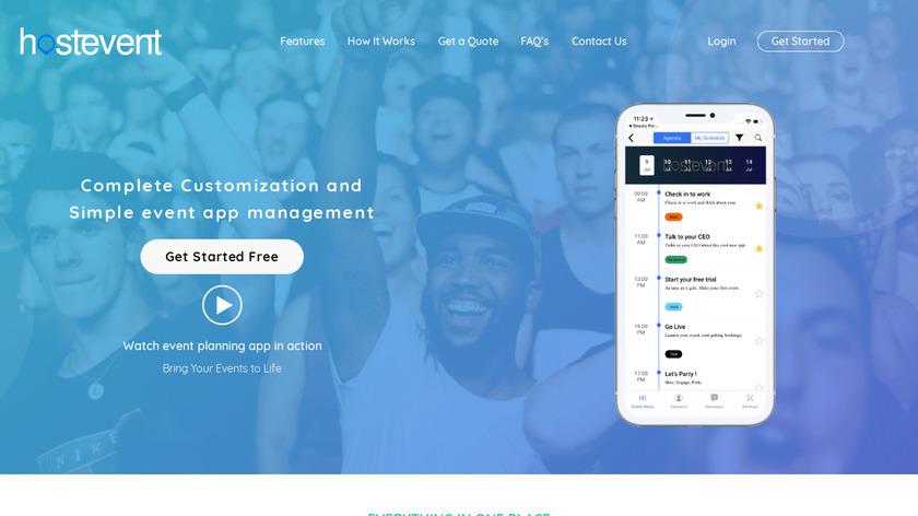 HostEvent Landing Page
