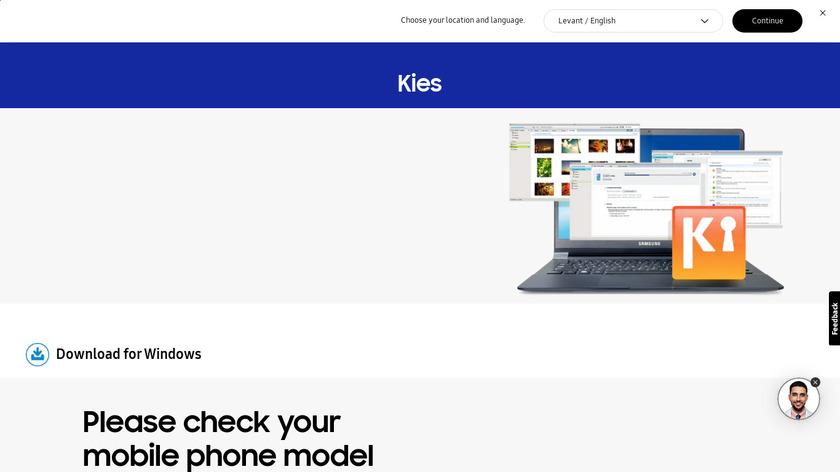 Samsung Kies Landing Page