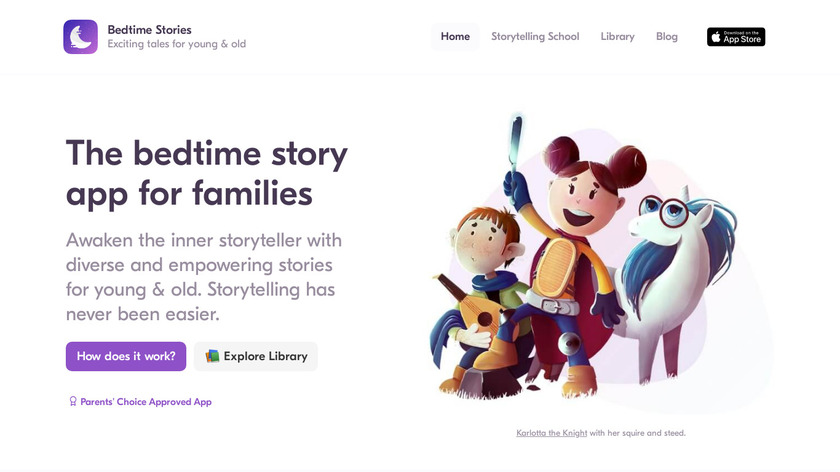 Bedtime Stories Landing Page