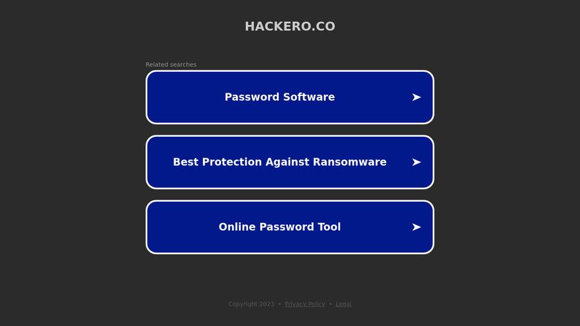 Hackero Landing Page