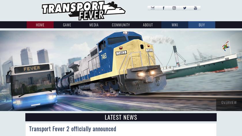 Transport Fever Landing Page