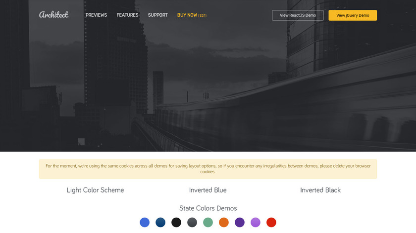 ArchitectUI Landing Page