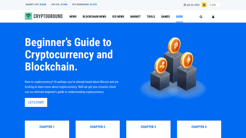 Cryptocurrency Guide Landing Page