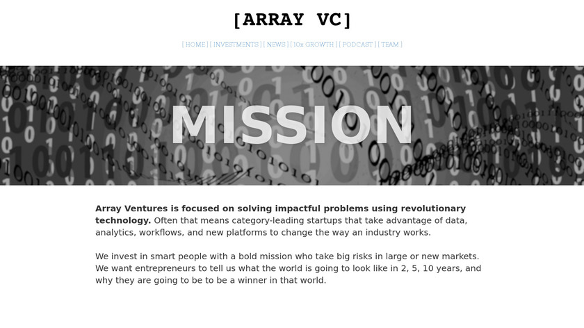 [Array] Podcast Landing Page