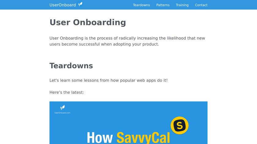 User Onboarding Landing Page