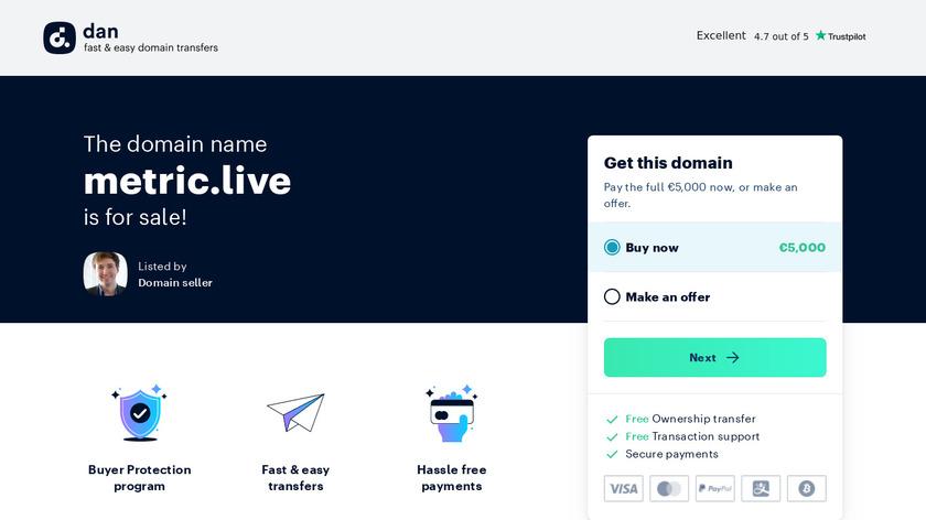 Metric.live Landing Page