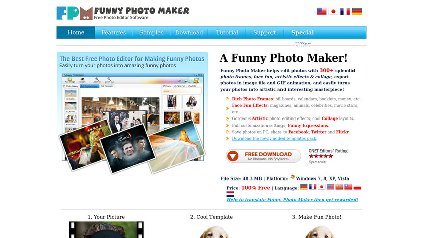 Funny Photo Maker Landing Page