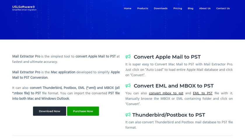 USL Mail Extractor Pro Landing Page