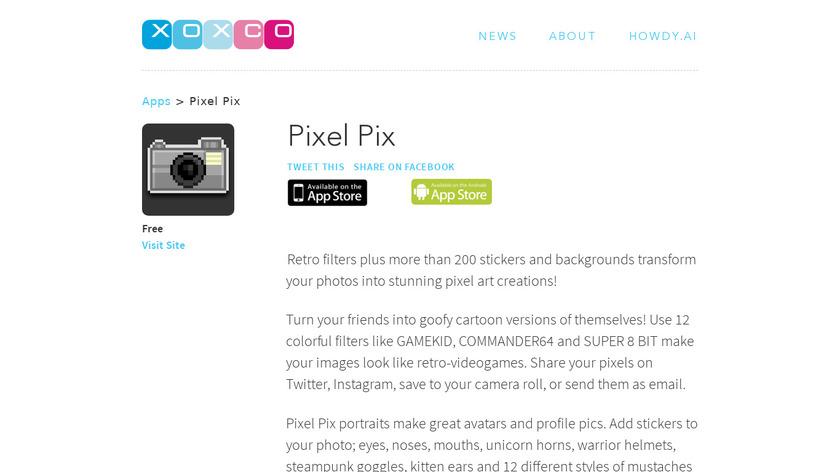 Pixel Pix Landing Page