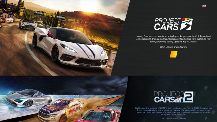 Project CARS Landing Page
