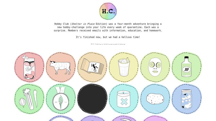 HobbyClub Landing Page