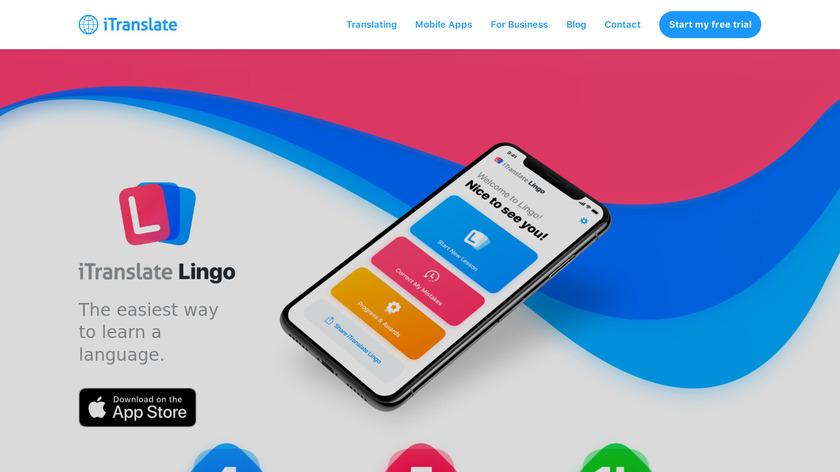 iTranslate Lingo Landing Page