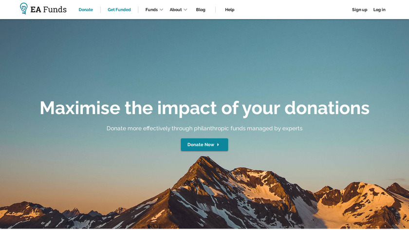 Effective Altruism Funds Landing Page