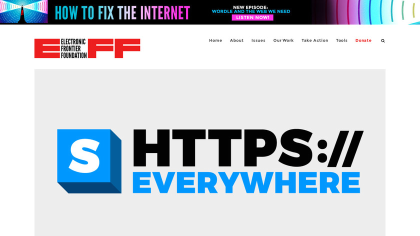 HTTPS Everywhere Landing Page