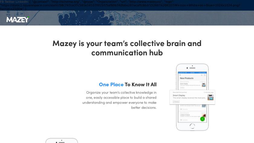 Mazey Landing Page