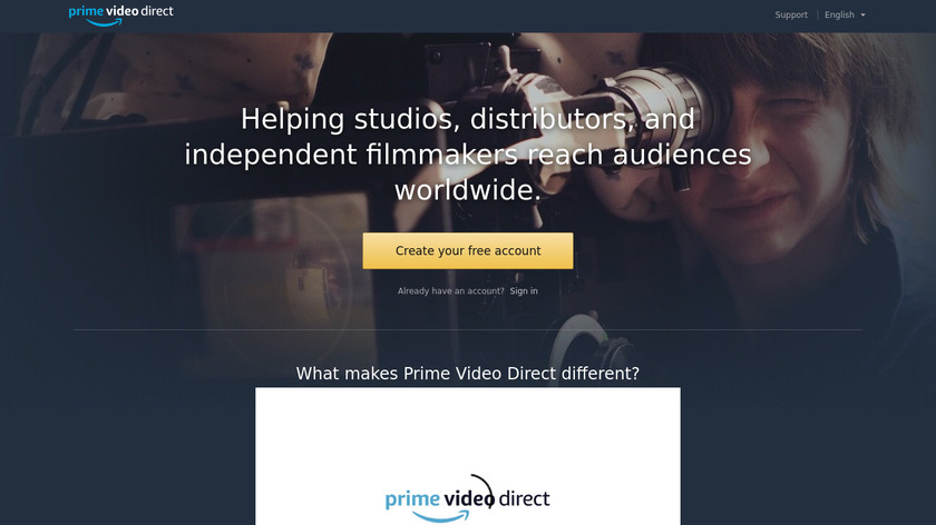 Amazon Video Direct Landing Page