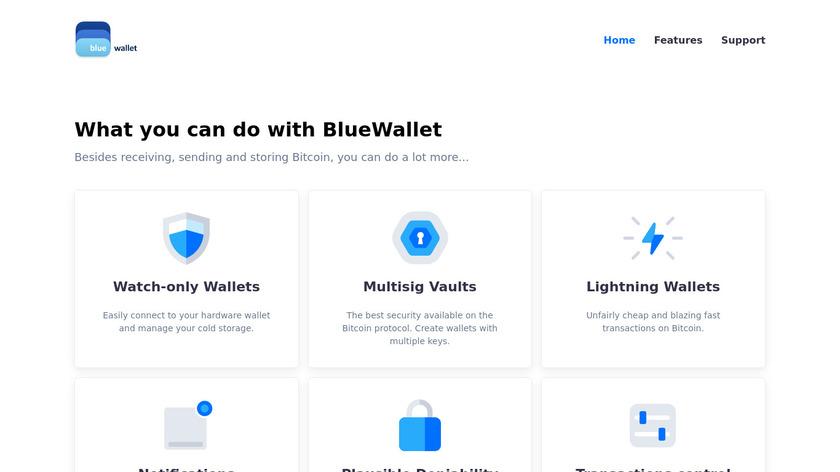 BlueWallet Landing Page