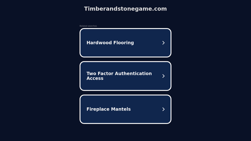 Timber and Stone Landing Page