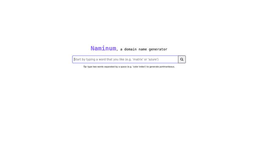 Naminum Landing Page