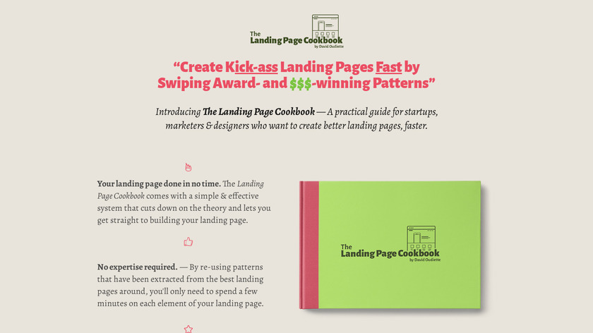 The Landing Page Cookbook Landing Page