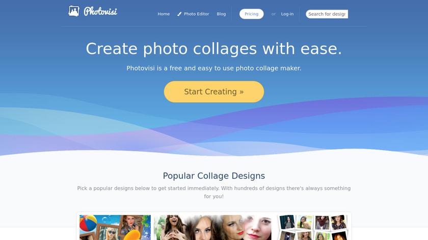 Photovisi Landing Page