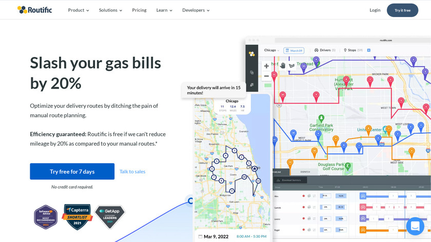 Routific Landing Page