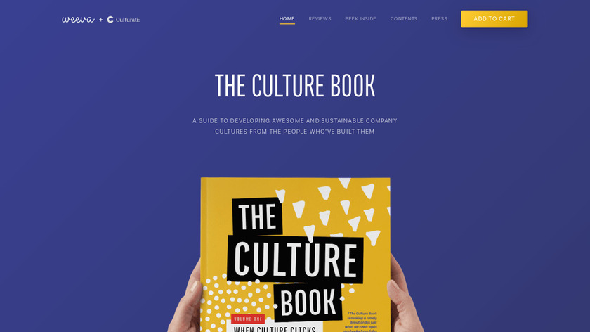 The Culture Book Landing Page