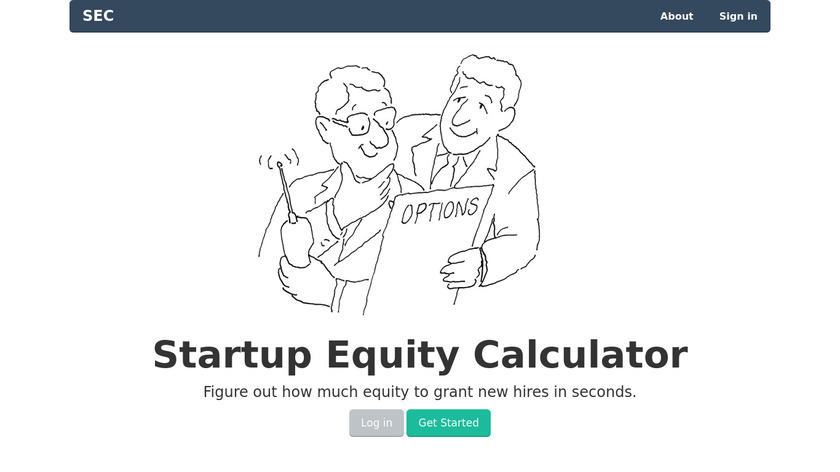 Startup Equity Calculator Landing Page